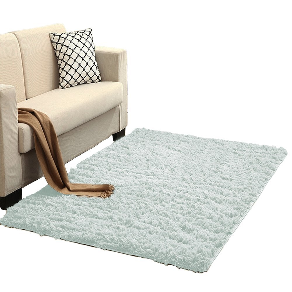 Dywan Living Room Shaggy 300x400 White